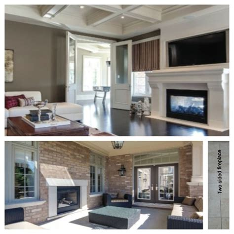 indoor outdoor two sided fireplace home inspiration