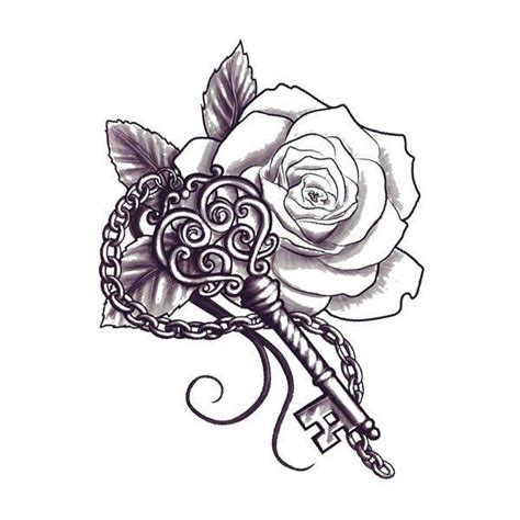 chain of roses tattoo flower images designs