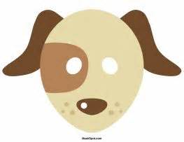 printable dog mask template dog mask templates including a coloring page version of