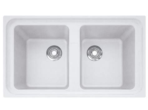 Sink On Impact franke impact impact granite dbl bwl sink 0th polar wh