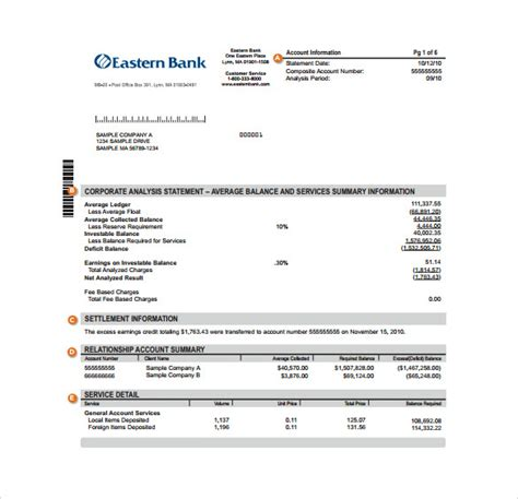 Bank Of America Credit Card Reconciliation Template by Sle Bank Statement Template 13 Free Documents