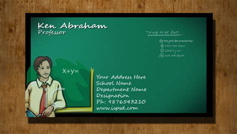 business cards for teachers templates free business card psd