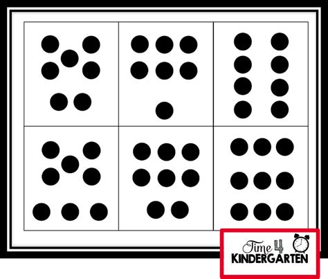 printable dice dot patterns time 4 kindergarten subitizing building strong number