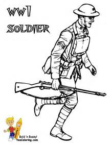 Army Coloring WW1 Soldier At Yes sketch template