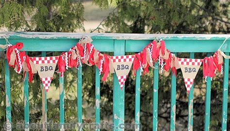 diy burlap bbq decorations about family crafts