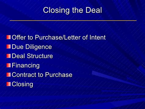 Letter Of Intent Due Diligence Why Sell Business Powerpoint For Linked In 6 25 2010