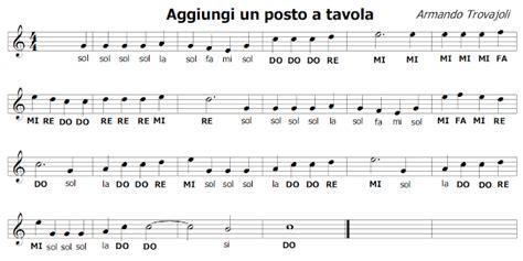 aggiungi un posto a tavola musical completo musica e spartiti gratis per flauto dolce aggiungi un