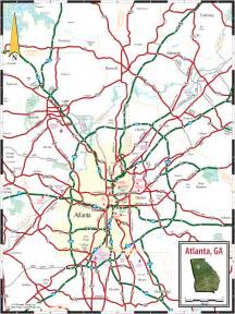 Map Of Atlanta by Atlanta Ga Tourist Map Atlanta Ga Mappery