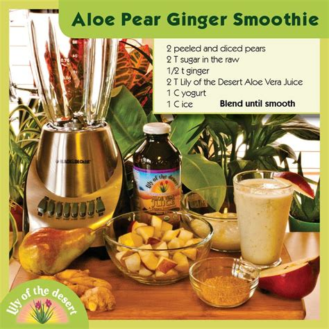 Aloe Vera Detox Juice Recipe by Pears And Aloe Vera Juice Are A Great Blend To