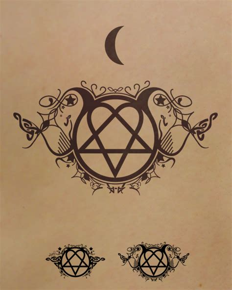 heartagram tattoo symbol tattoos designs pictures