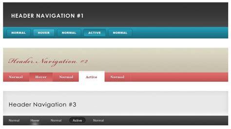 header design navigation header and navigation pack psd freedownload photoshop psd