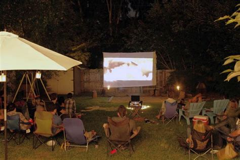 backyard movie night creative party ideas hative
