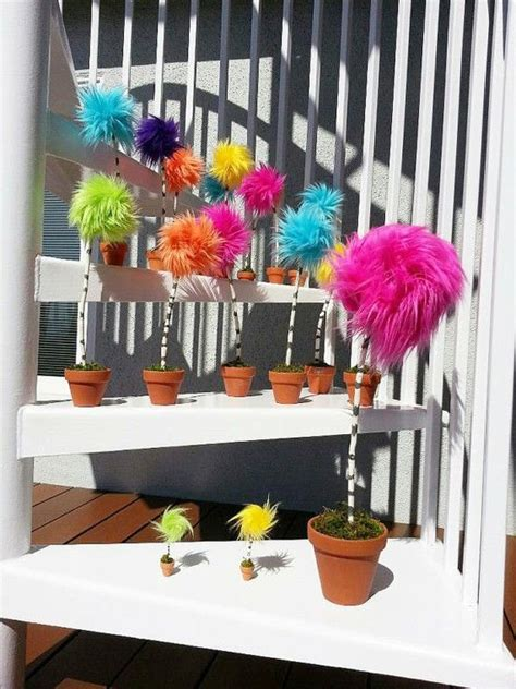 How To Make Lorax Trees Out Of Tissue Paper - medium pom tree 10 inches nursery themes the
