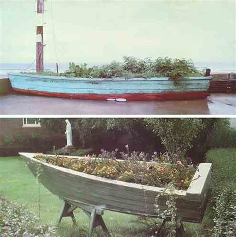 boat planter grow it in a boat do it yourself