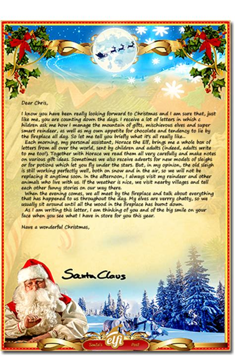 santa letters personalized letter
