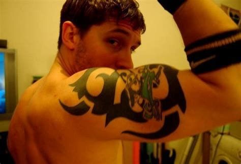 tom hardy tribal tattoo pin posted by ardi bakrie at 0505 on