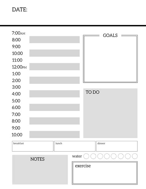 printable blank planner pages daily planner printable template sheets paper trail design