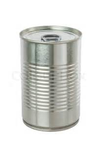aluminum tin can on a white background stock photo