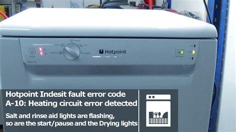 hotpoint indesit dishwasher flashing lights fault error