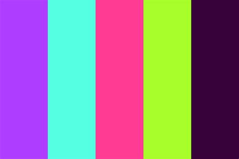 colorful colors neon light color palette