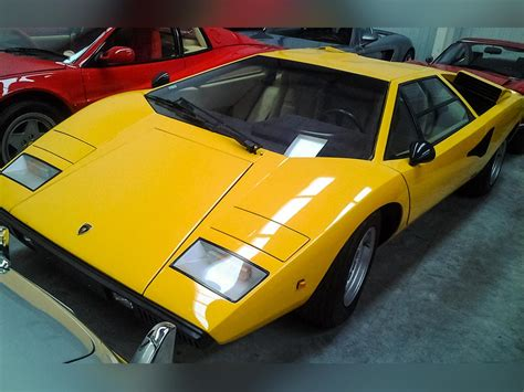yellow lamborghini countach lamborghini countach lp400 periscopo for sale at talacrest