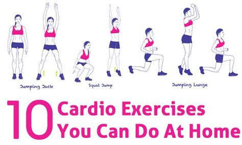 top 10 cardio exercises you can do at home home cardio