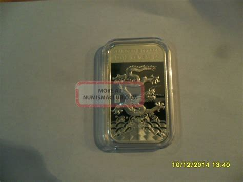 1 oz year of the silver bar 999 1 troy ounce 999 silver bar 2012 year of the