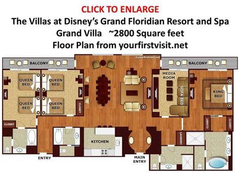 grand floridian 2 bedroom villa floor plan floor plan grand villa at disney s grand floridian from