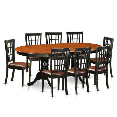 9 pc dining room table sets 9 pc dining room set dining table with 8 wood dining chairs