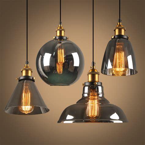 Luminaire Pendant Lighting New Style Smoky Grey E27 Pendant Lights Glass L Luminaire Pendant L Glass Lshade Hang