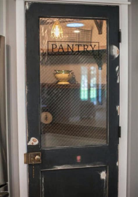 vintage pantry door e is for entry