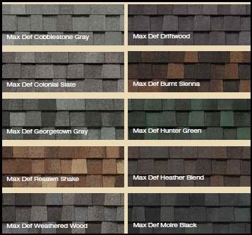 certainteed shingle colors j roofing