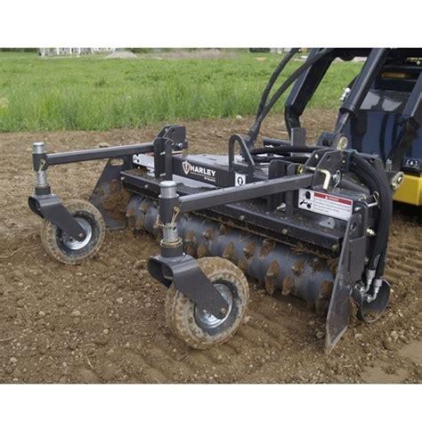 skid loader attachment harley rake landscape rake 6