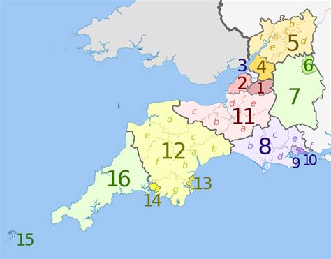south and west from file south west england counties 2009 map svg wikipedia