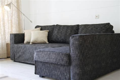 custom sofa slipcovers indianapolis in manstad sofa bed slipcover in nomad black comfort works