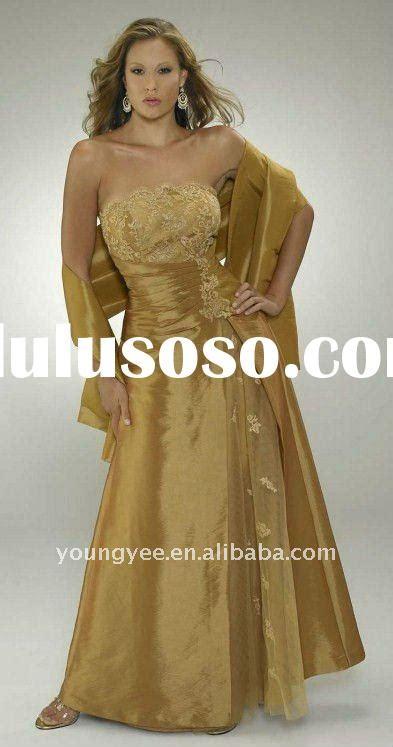 Maxy Combi Tafetta gold of the dress with jacket dress uk