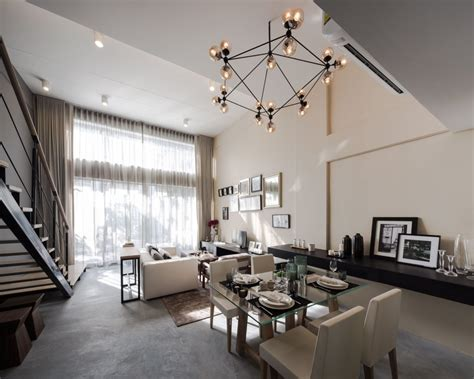 modern living spaces modern townhome in bangkok s fashion district