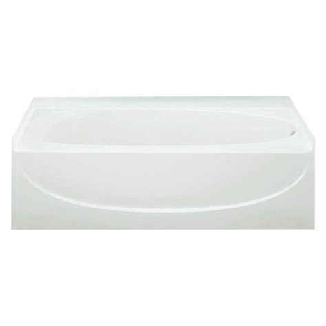 bootz industries mauicast 5 ft right drain soaking tub in
