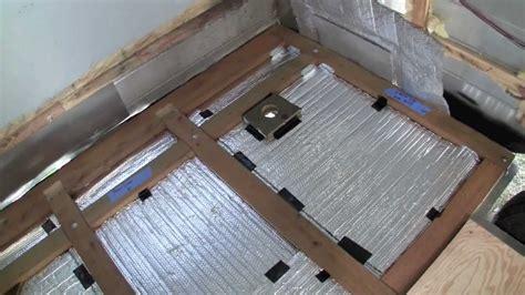 travel trailer floor replacement 3 4