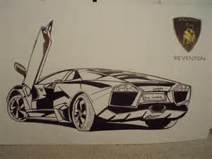 car drawings lamborghini reventon