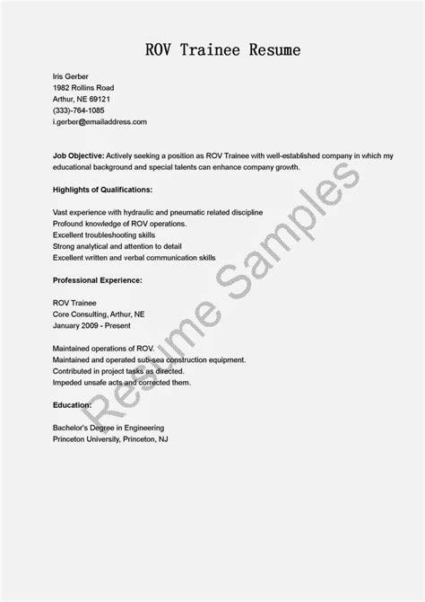 Rov Trainee Sle Resume rov trainee resume sle resume sles resame sle html and resume