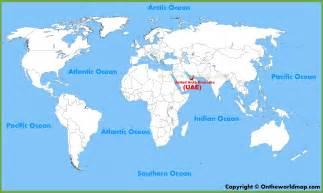 Uae World United Arab Emirates Uae Location On The World Map