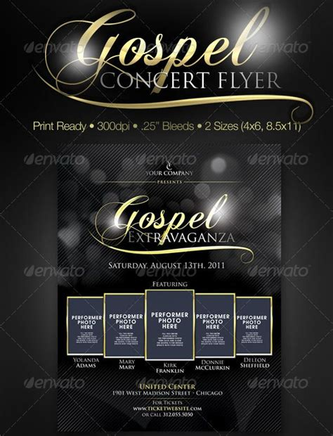 design event flyer free gospel concert poster design 32 best church flyer