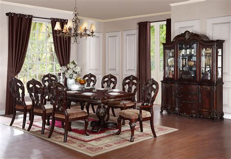 dining room 7 piece sets homelegance fillmore 7 piece dining room set in espresso