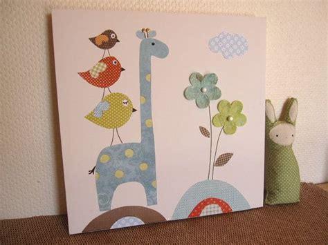 habitacion seek the uniq unique nursery art canvas kids painting birds giraffe