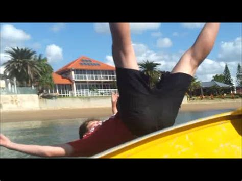 falling out of boat funny falling out of the boat and snapper youtube