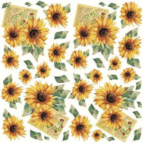 Tissue Paper Decoupage Ideas - dft01 sunflowers decoupage tissue paper crafts sunflower