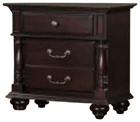 3 drawer nightstand cherry homelegance townsford 3 drawer nightstand in dark cherry