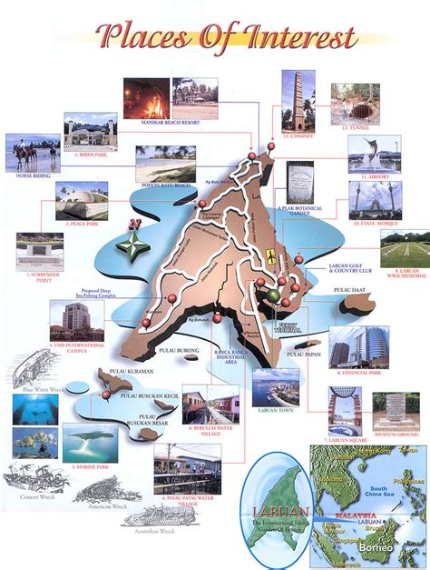 places of interest in map labuan places of interest location map
