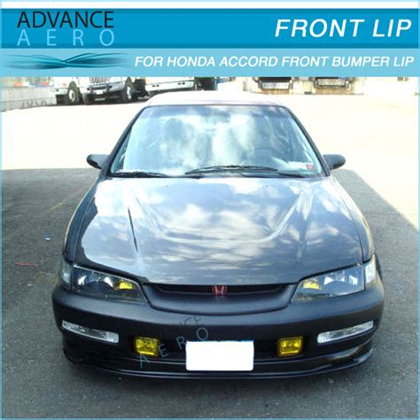 2000 honda accord front bumper with fog lights for 96 97 honda accord style front bumper lip spoiler pu